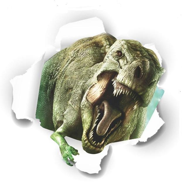 Živá Zeď Samolepka Tyranosaurus Jurský park 50 x 50 cm