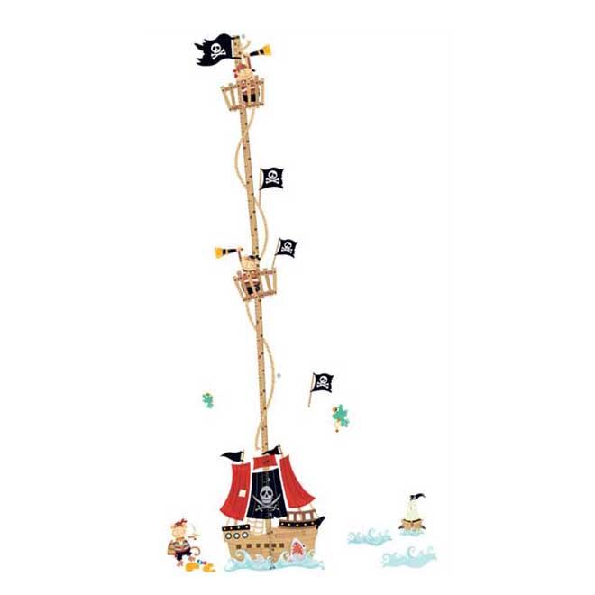 Živá Zeď samolepka Metr pirátská loď 158 x 88 cm