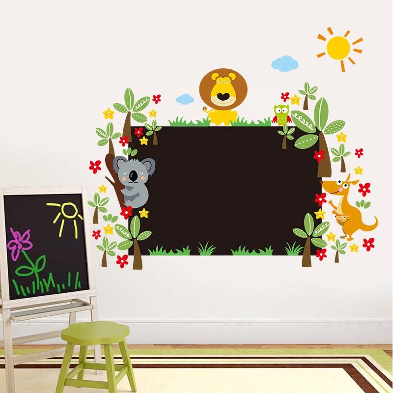 Živá Zeď Samolepka Velká tabule na zeď se zvířátky 90 x 60 cm