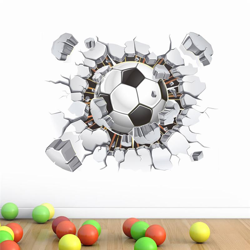 Živá Zeď Samolepka Fotbalový míč 50 x 40 cm