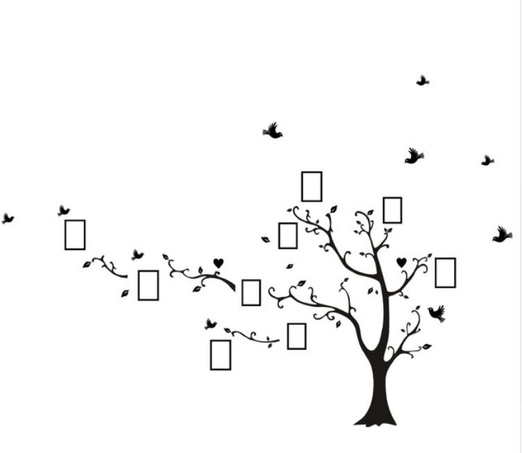 Živá Zeď Samolepka Strom vzpomínek Velikost: 260 x 200 cm LEVÝ