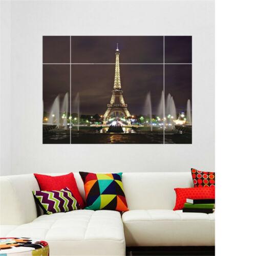 Živá Zeď samolepka Okno s výhledem na Eiffelovu věž 60 x 40 cm
