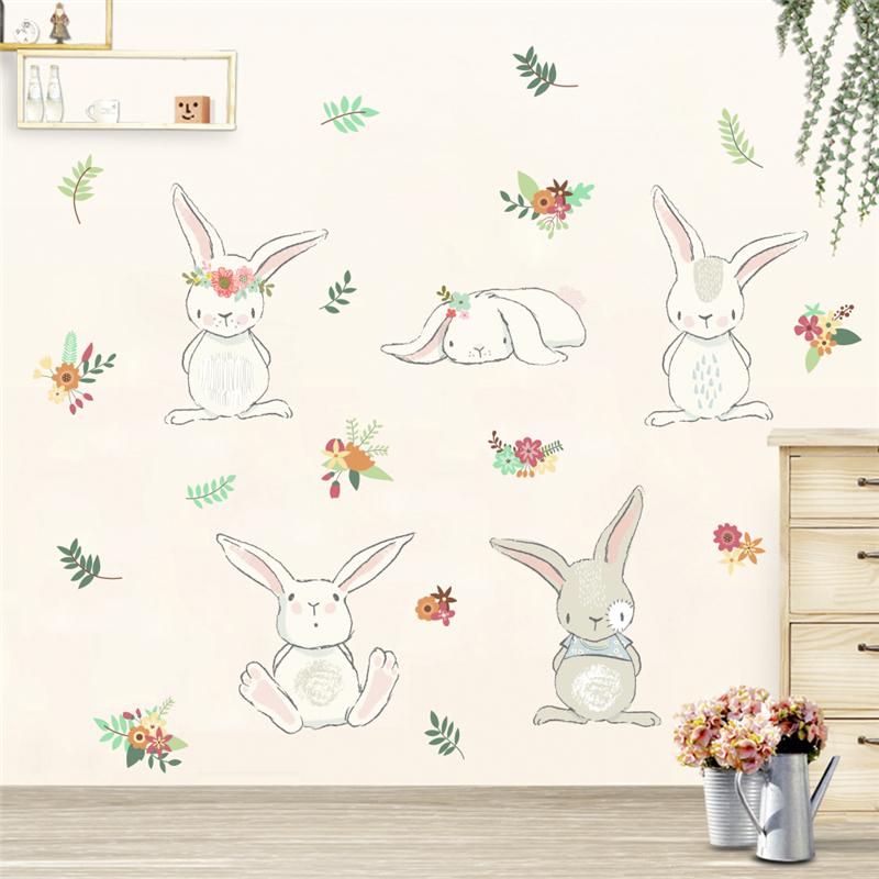 Živá Zeď Samolepka Hraví králíci 120 x 60 cm