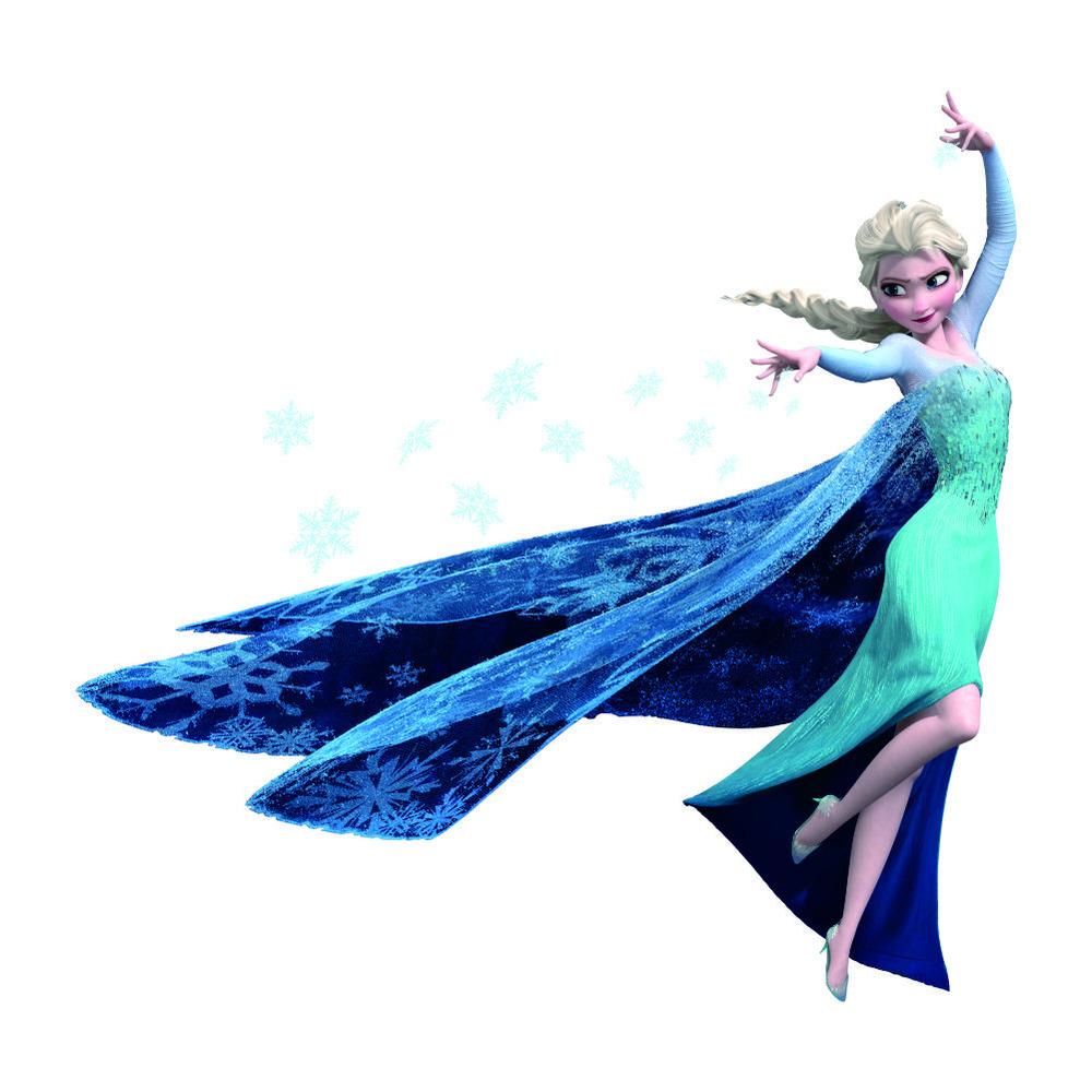 Živá Zeď samolepka Elsa Ledové království 62 x 60 cm