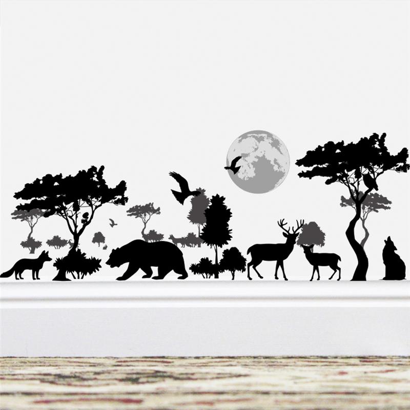 Živá Zeď Samolepka Zoo v noci 90 x 35 cm