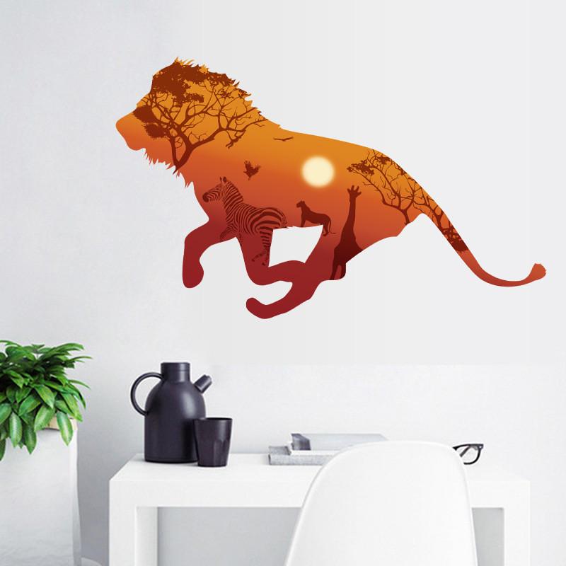 Živá Zeď Samolepka Lev 130 x 67 cm