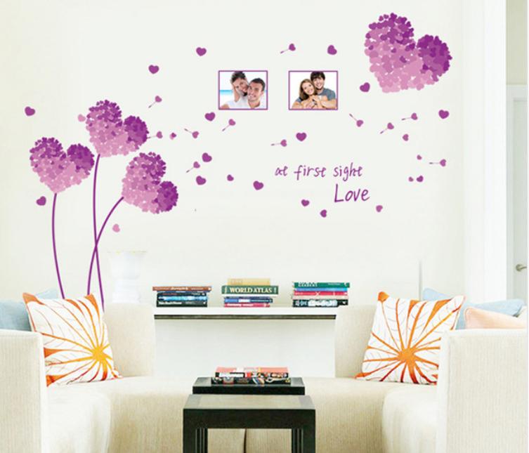 Živá Zeď Samolepka Květy lásky 125 x 96 cm