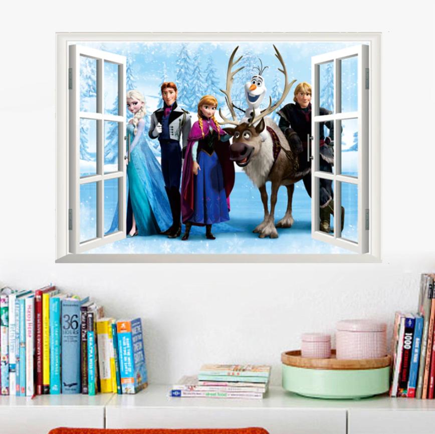 Živá Zeď Samolepka Okno Ledové království 66 x 46