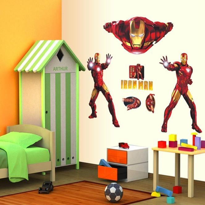 Živá Zeď 3D Samolepka Iron Man 90 x 60 cm
