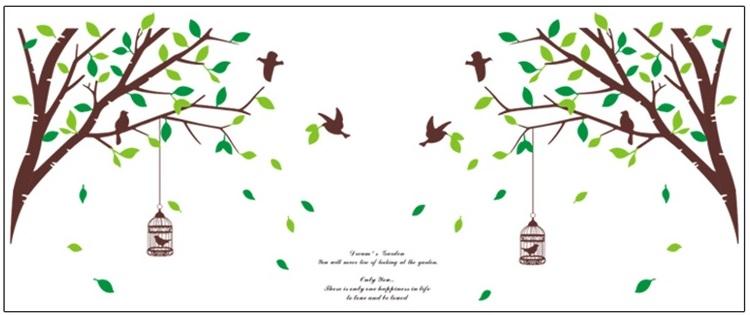 Živá Zeď Samolepka Zrcadlový strom 300 x 120 cm
