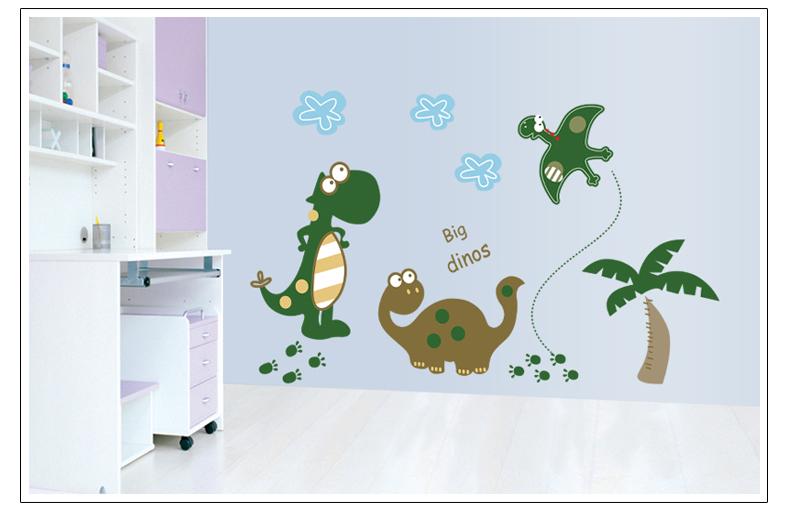 Živá Zeď Samolepka Kreslení Dinosauři 100 x 65 cm