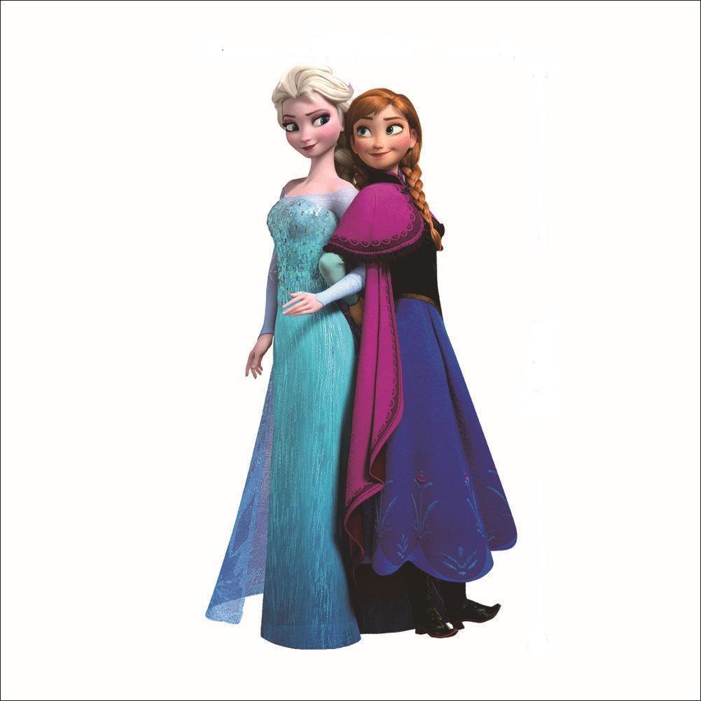 Živá Zeď Samolepka Elsa a Anna Ledové království %%