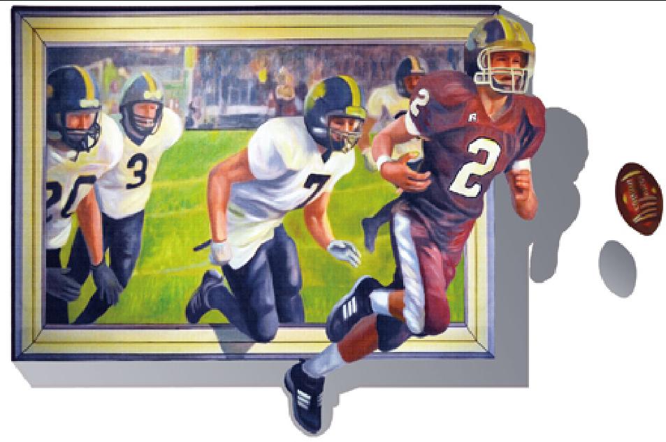 Živá Zeď Samolepka Americký fotbal 70 x 100 cm