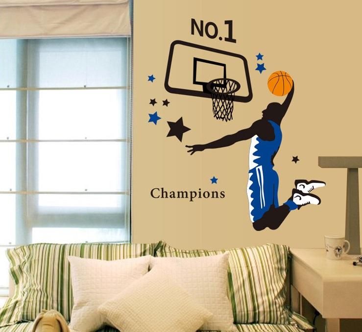 Živá Zeď Samolepka Hráč basketbalu