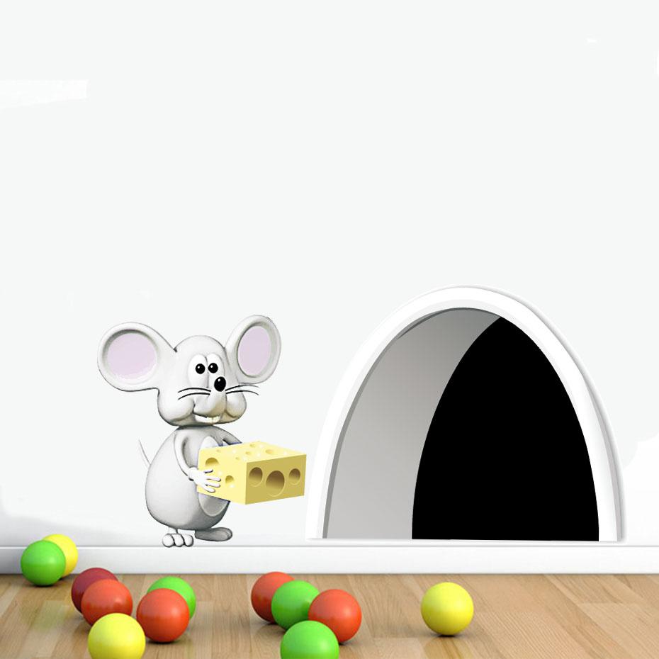 Živá Zeď Samolepka Myší díra