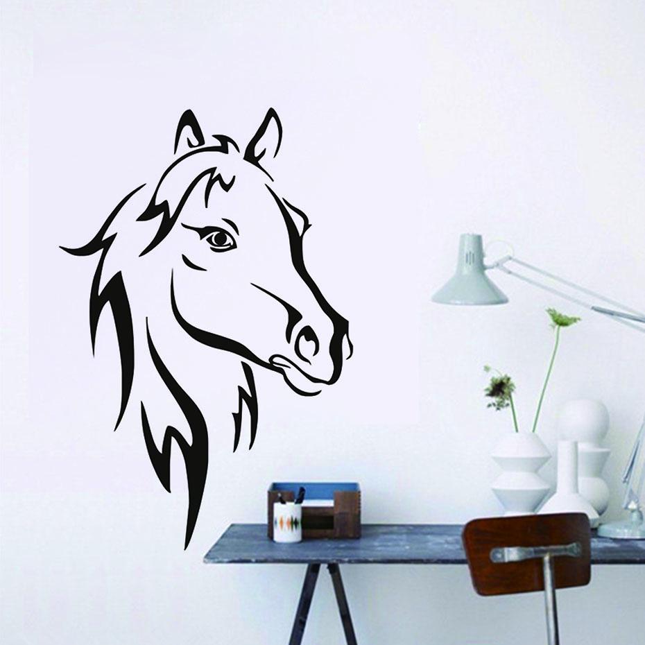 Živá Zeď Samolepka Kůň 44 x 29 cm
