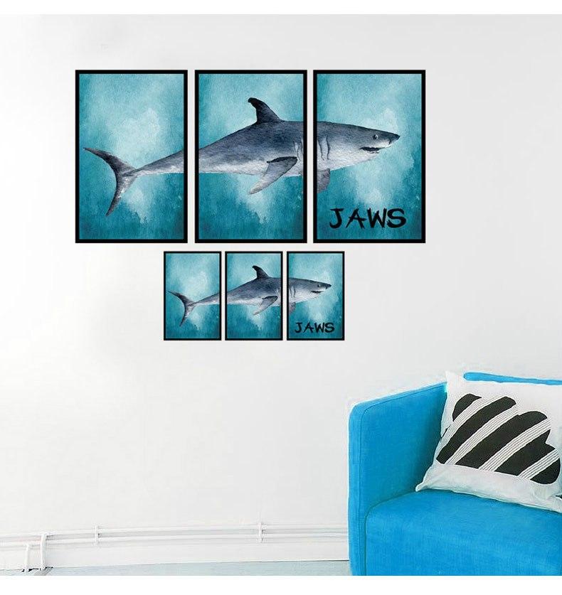 Živá Zeď Samolepka Žralok 88 x 68 cm