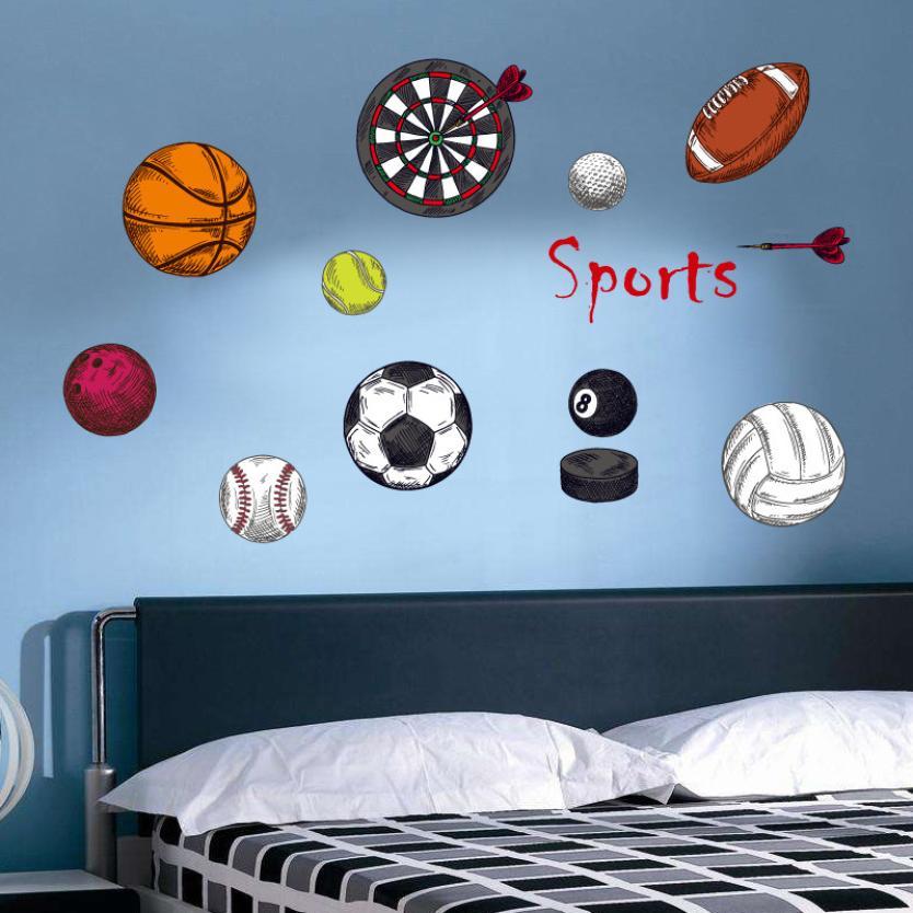Živá Zeď Samolepka Sportovní pomůcky 70 x 50 cm