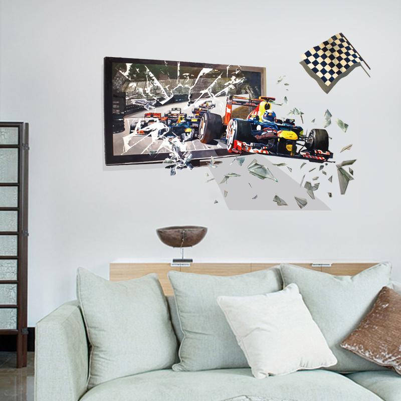 Živá Zeď Samolepka 3D Formule 90 x 60 cm