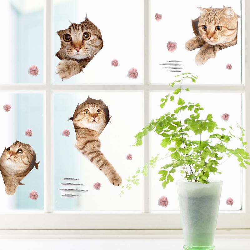 Živá Zeď Samolepka Kočky 120 x 70 cm