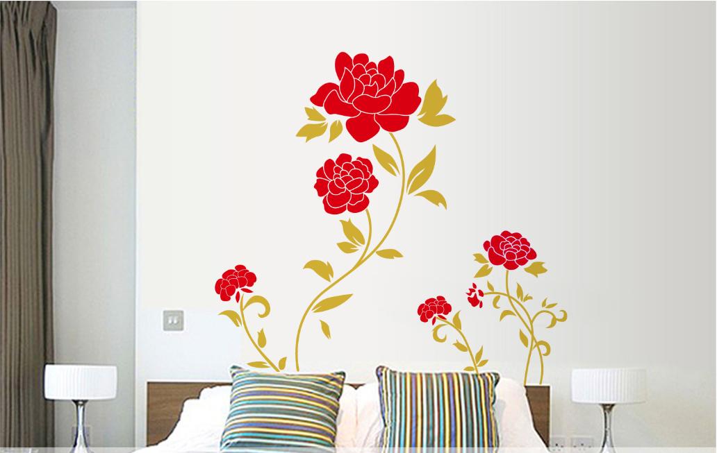 Živá Zeď Samolepka Červené růže 90 x 60 cm