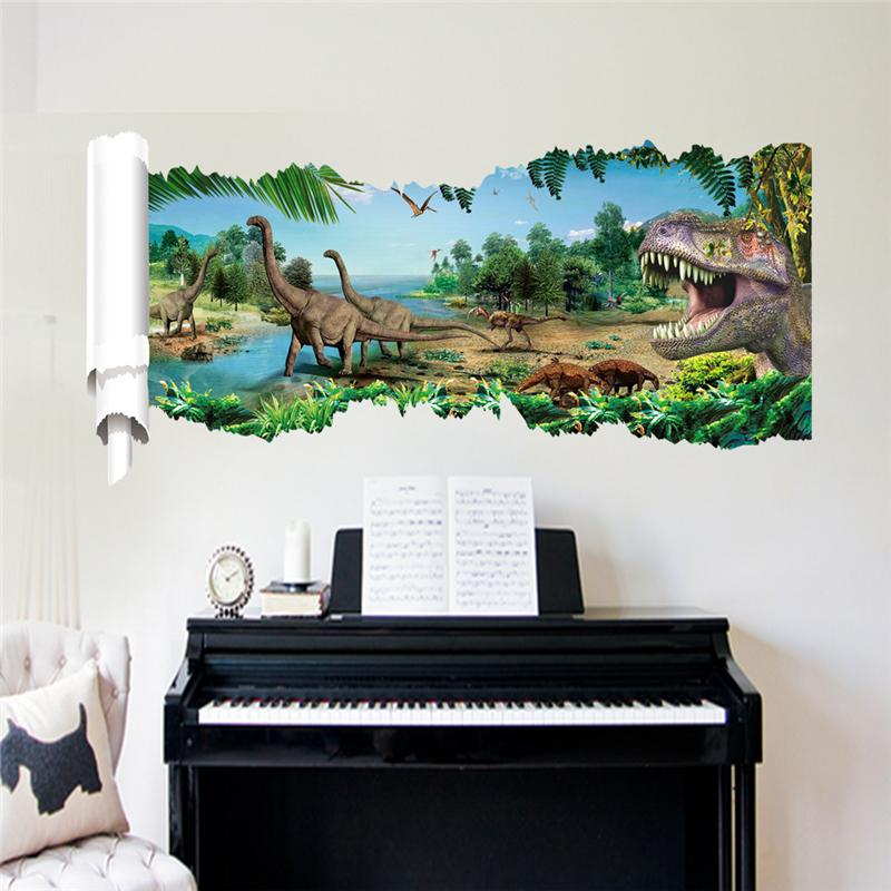 Živá Zeď Samolepka Dinosauři a Tyranosauři II 90 x 46 cm