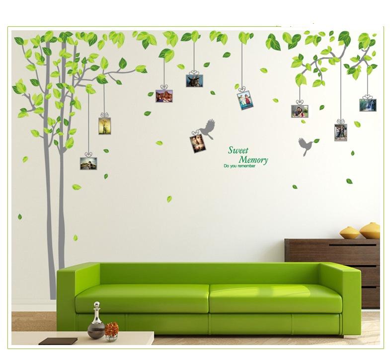 Živá Zeď Samolepka Dárkový strom vzpomínek - 2 barvy Barva: Šedý %%275 x 210 cm