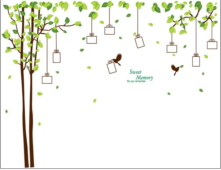 Živá Zeď Samolepka Dárkový strom vzpomínek - 2 barvy Barva: Hnědý %%275 x 210 cm