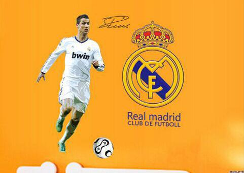 Živá Zeď samolepka Ronaldo Real Madrid 13 x 13 cm32 x 9 cm20 x 7 cm51 x 37 cm