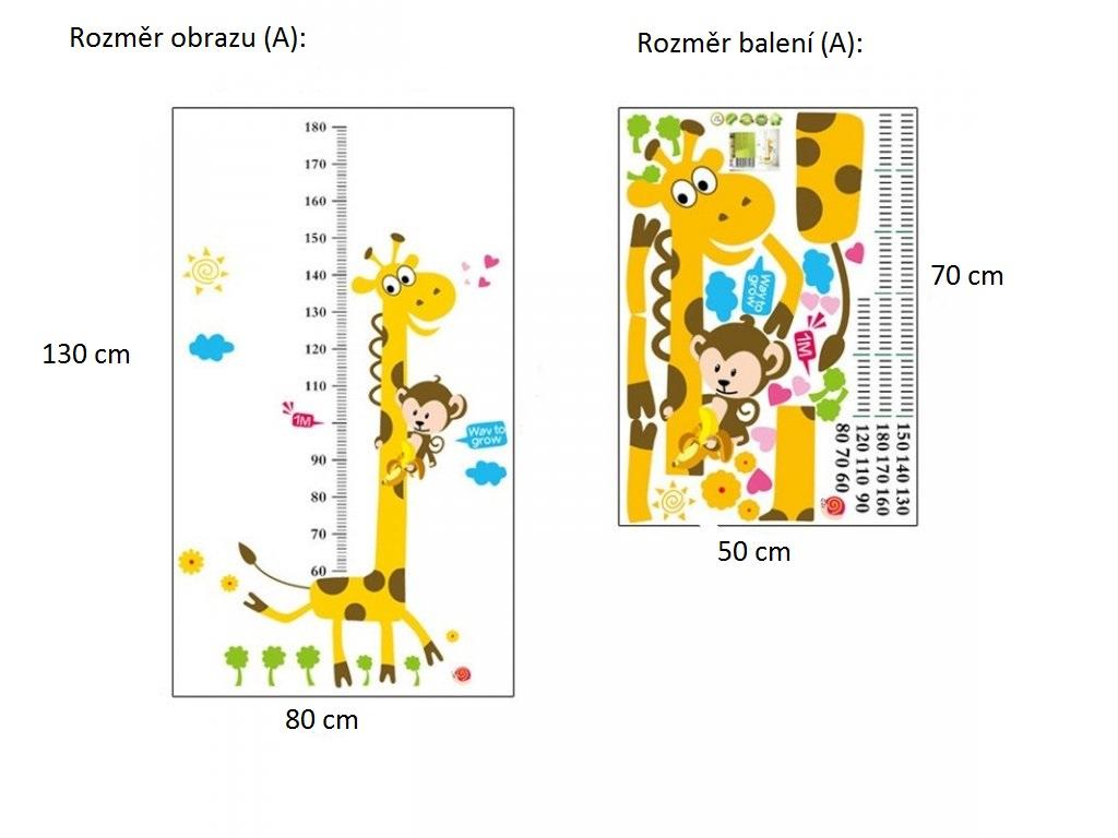 Živá Zeď Samolepka metr Žirafa Velikost: 130 x 80 CM