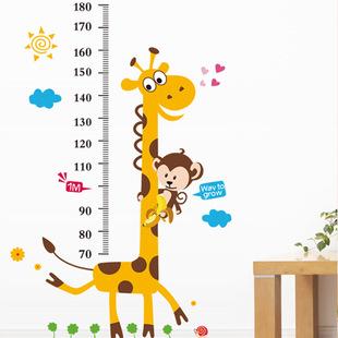 Živá Zeď samolepka Metr Žirafa 180 x 100 cm