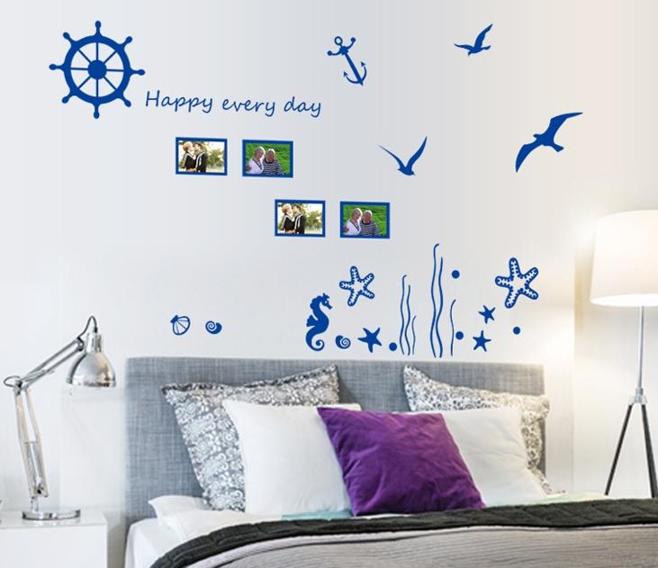 Živá Zeď Samolepka Modré vzpomínky 100 x 135 cm