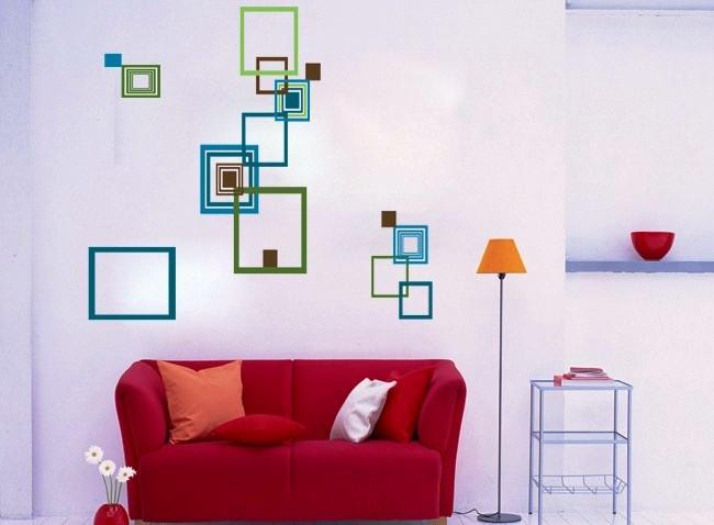 Živá Zeď Samolepka Čtverce 27 x 27 cm