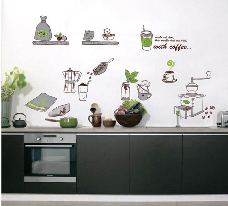 Živá Zeď Samolepka V kuchyni 140 x 70 cm