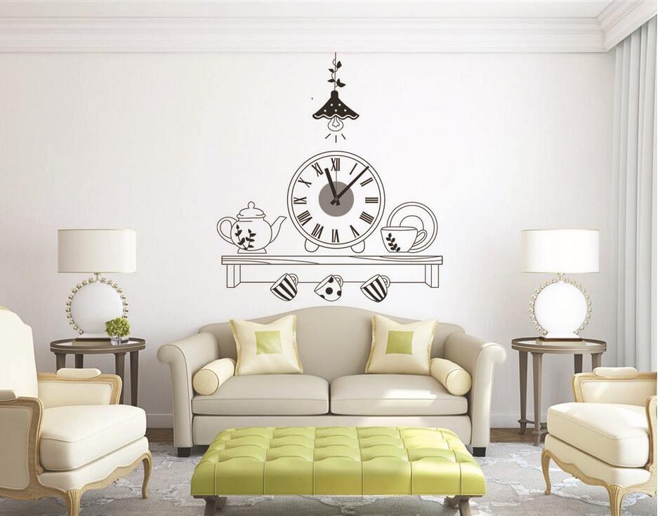 Živá Zeď Samolepící dětské hodiny Polička 60 x 72 cm