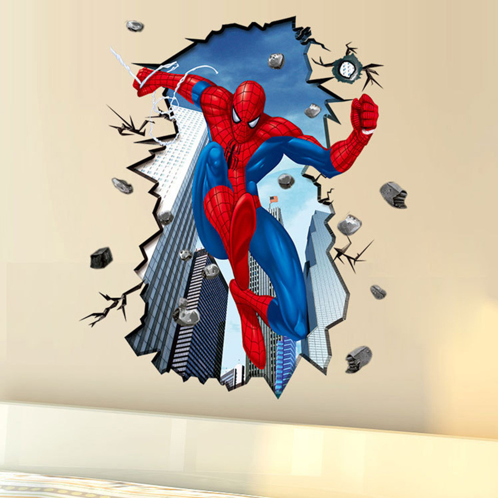 Živá Zeď samolepka Spiderman 96 x 80 cm