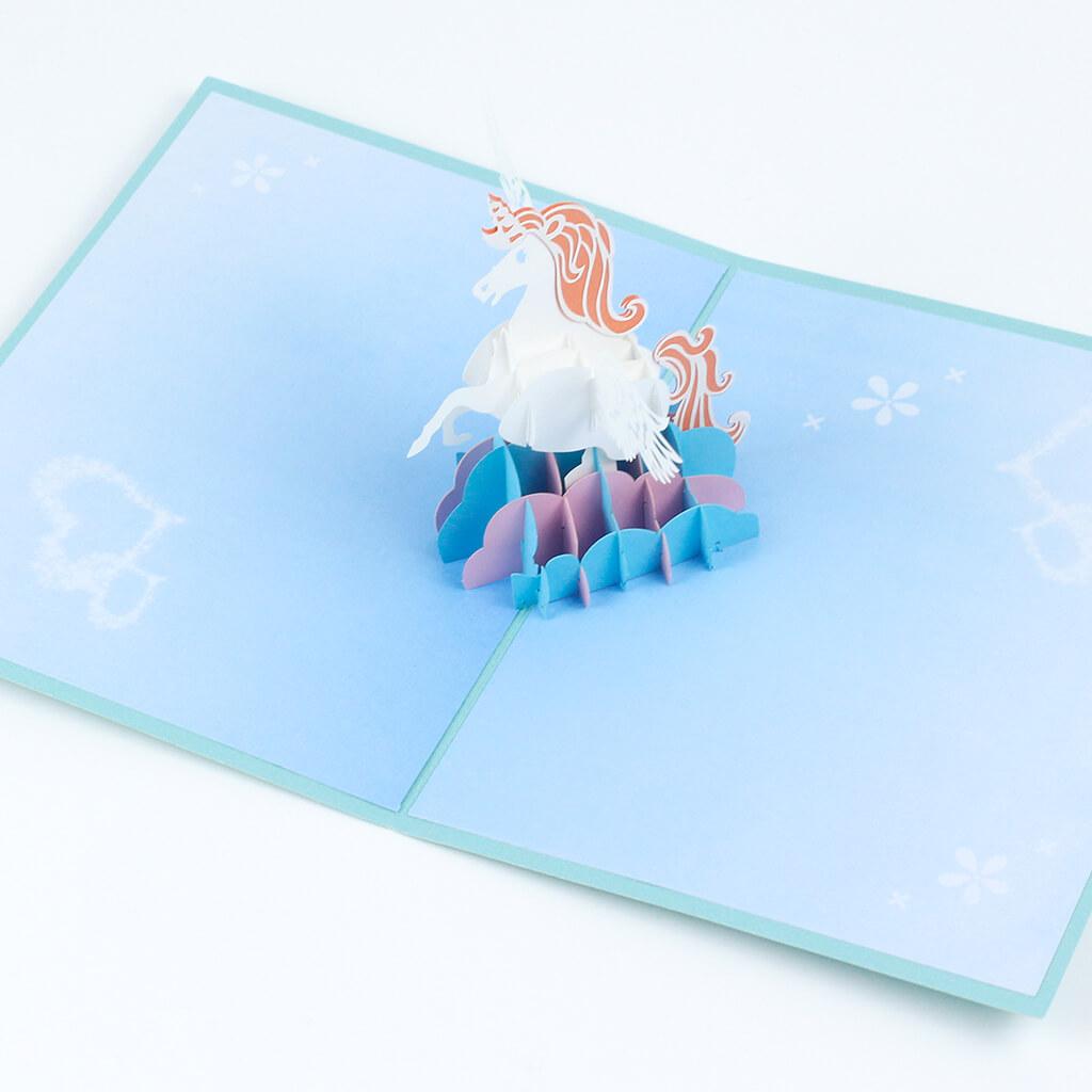 3D přání Tyrkysový jednorožec