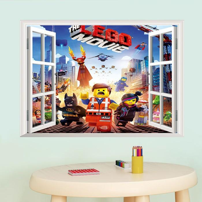 Živá Zeď samolepka Lego příběh 70 X 50 cm