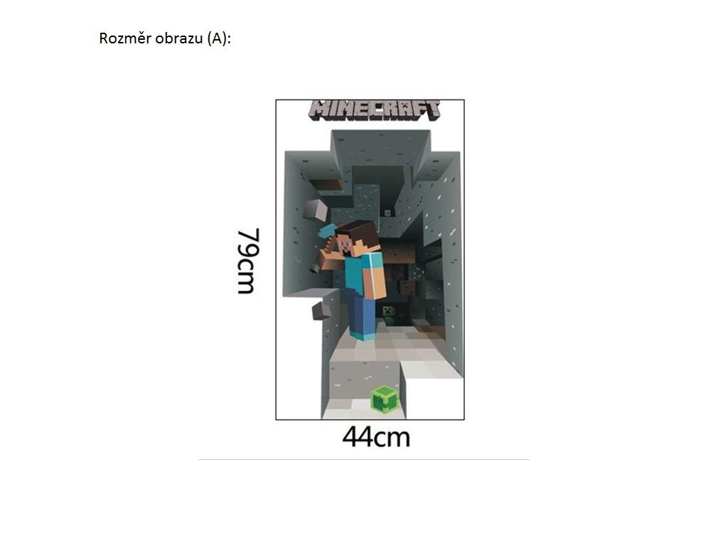 Živá Zeď Samolepka Minecraft Velikost: 70 x 50 cm