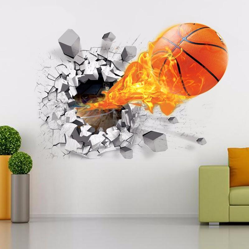 Živá Zeď samolepka Basketbalový míč 70 x 50 cm