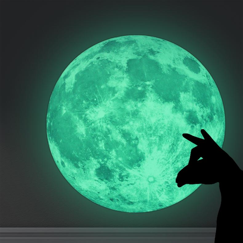 Živá Zeď Samolepka Svítící Měsíc %%