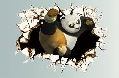 Živá Zeď Samolepka Kung-Fu Panda %%66 x 46 cm