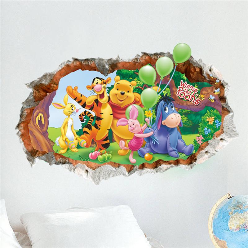 Živá Zeď Samolepka Medvídek Pú s kamarády 66 x 43 cm