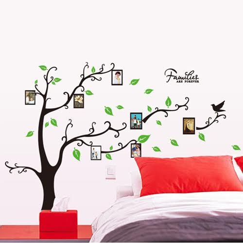 Živá Zeď samolepka Strom rodinných vzpomínek 120 x 170 cm