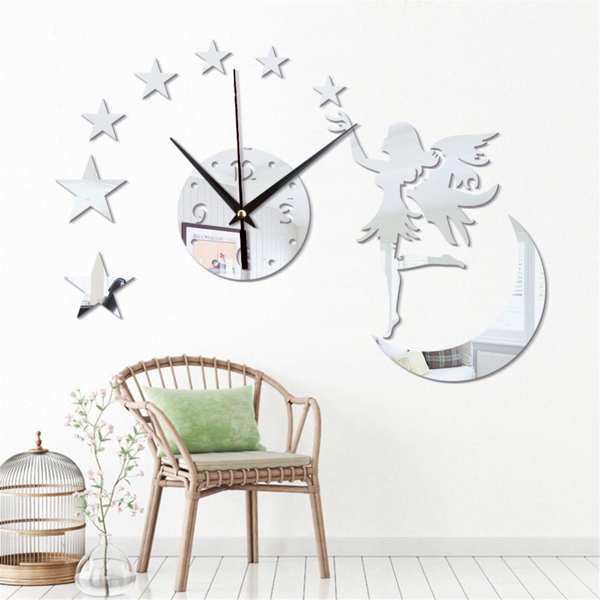 Živá Zeď Nástěnné hodiny Měsíc - 2 barvy Barva: Černé 45 x 45 cm
