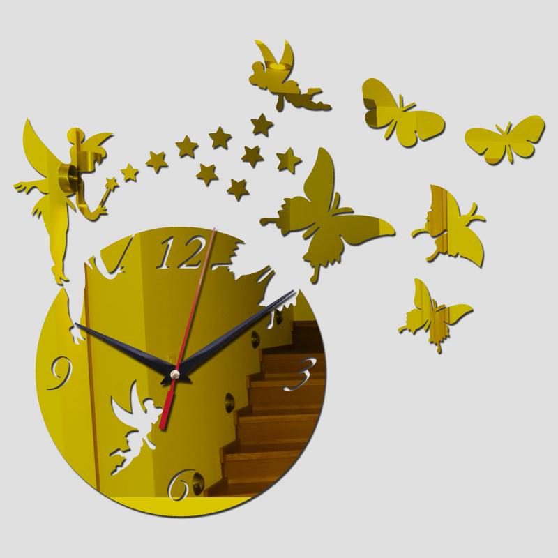 Živá Zeď Nástěnné hodiny Měsíc v úplňku - 3 barvy Barva: Zlatá 45 x 45 cm %%