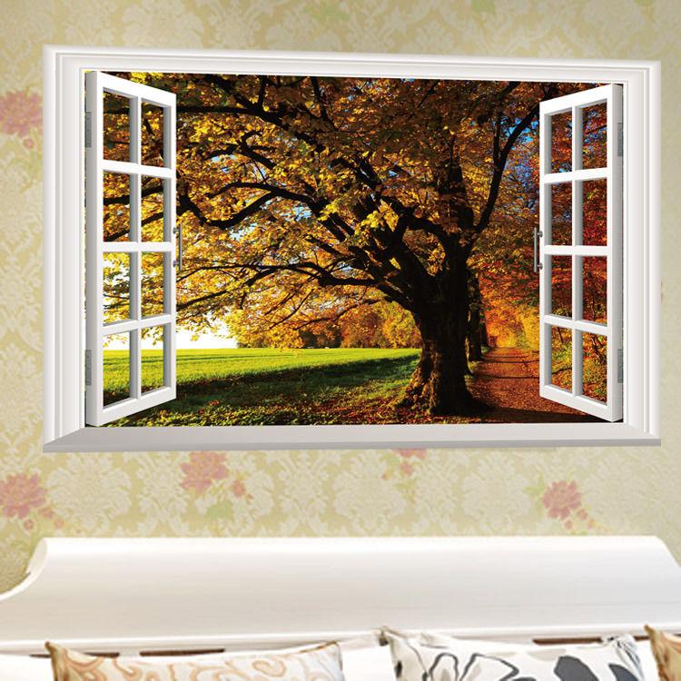 Živá Zeď samolepka Barvy podzimu 60 x 40 cm