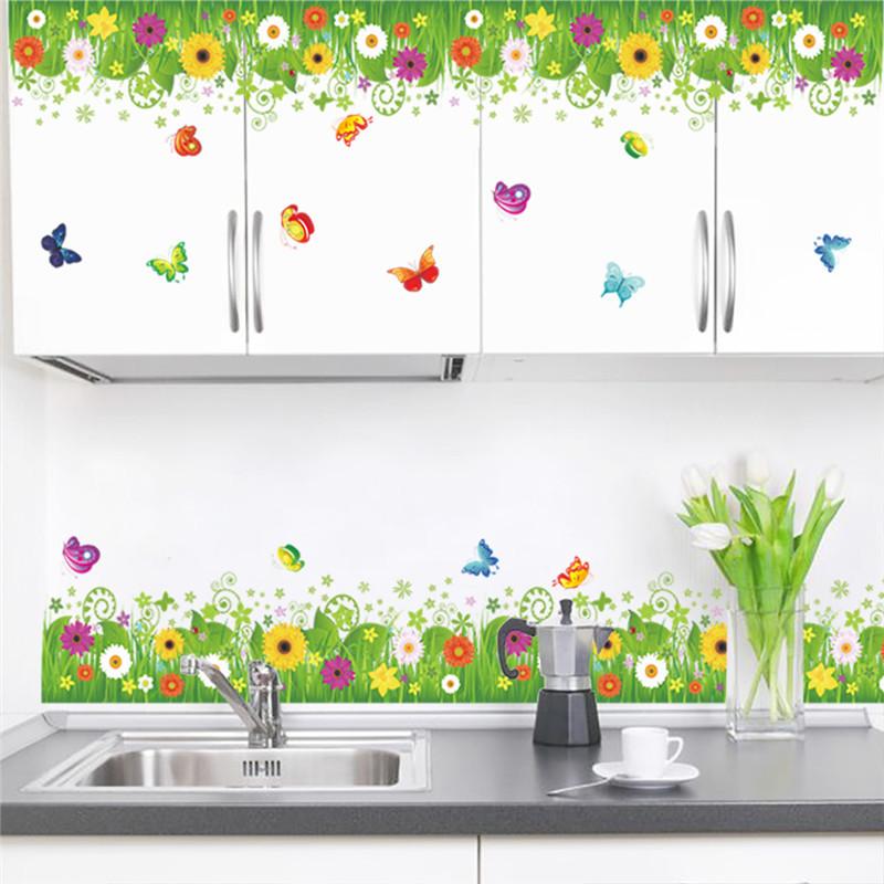 Živá Zeď samolepka Jarní louka 40 x 60 cm