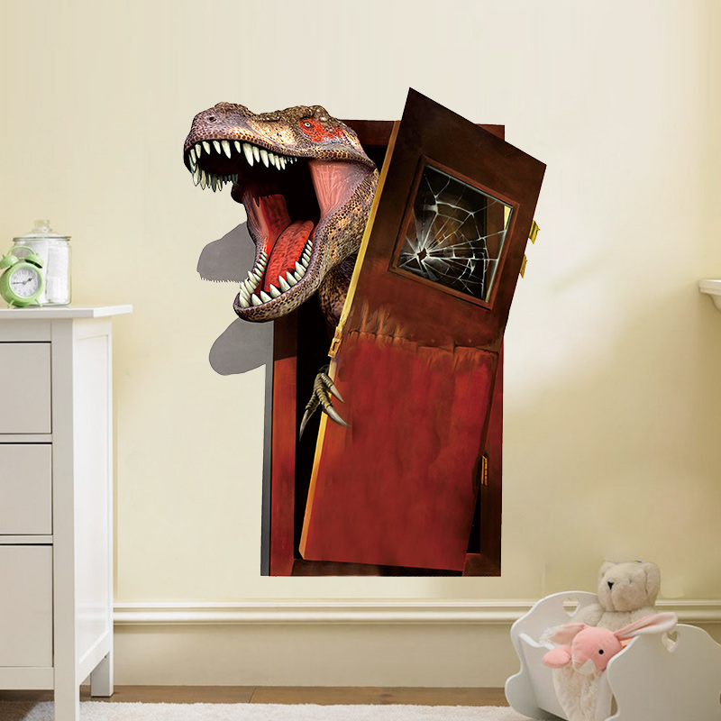 Živá Zeď Samolepka Dinosaurus útočí 45 x 60 cm