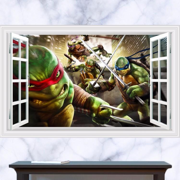 Živá Zeď Samolepka Želvy Ninja v plné zbroji 90 x 60 cm